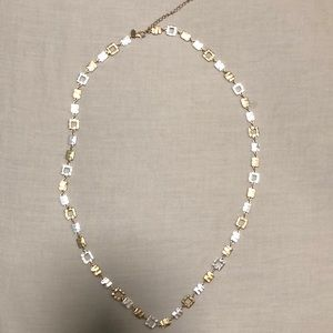 Lia Sophia two toned gold and silver necklace